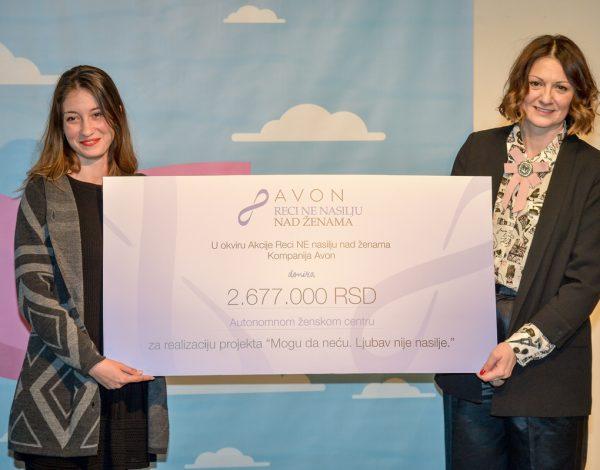 Kompanija Avon uručila je vrednu donaciju Autonomnom ženskom centru