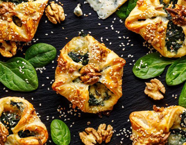Lisnate pogačice sa spanaćem i feta sirom