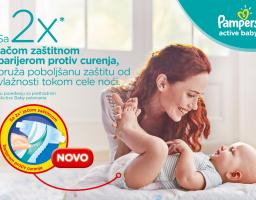 Koliko znate o snu vaše bebe? Nove Pampers Active Baby pelene za vašu srećnu bebu