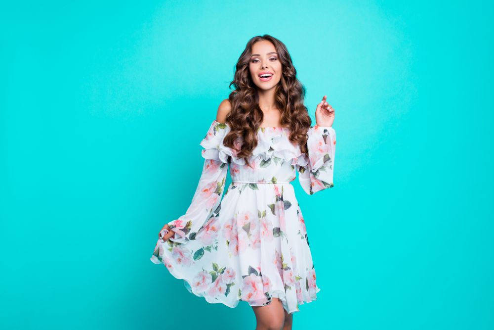 moda trend cvetna haljina