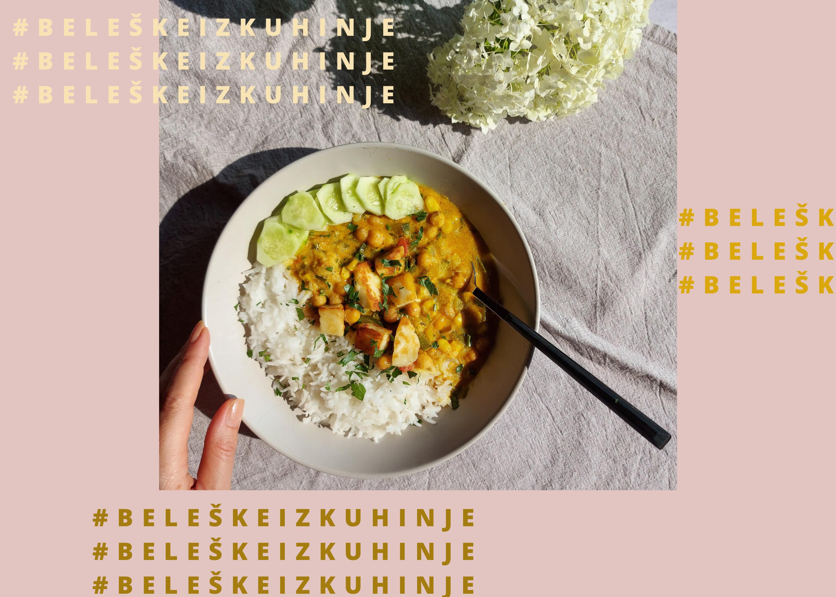 Letnji kari s leblebijom, kokosovim mlekom i limunom